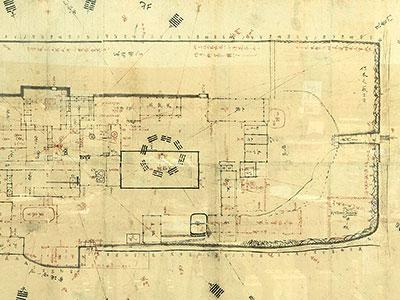 大賀酒造敷地図面 天保年間(1830年~1845年頃)